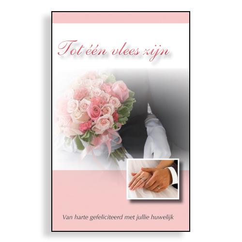 Geschenkboekje Tot Een Vlees Zijn Felicitatie Met Jullie Huwelijk Tot Een Vlees Zijn Van Harte Gefeliciteerd