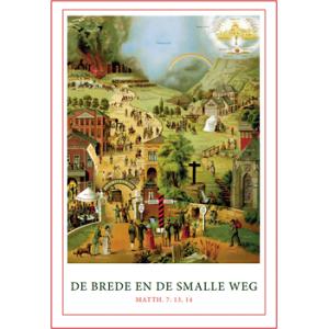 Poster A4 'De brede en de smalle weg'