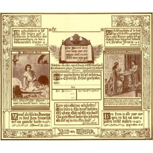 Getuigschrift - Oude plaat Isings