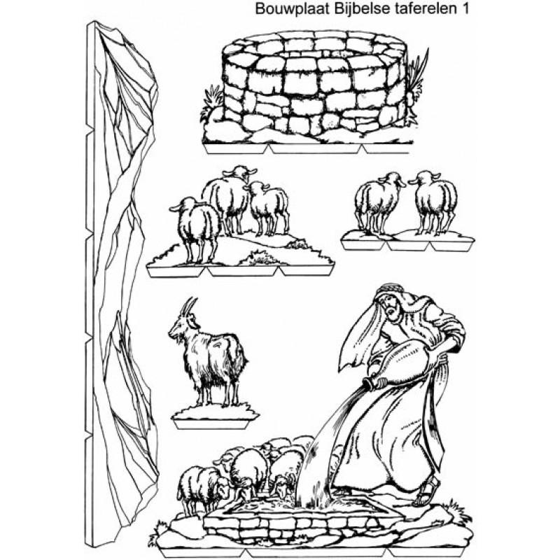 kopieerplaten bijbelse taferelen voor een kijkdoos